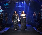 Designer Rina Dhaka and showstopper Yami Gautam walking the ramp for Blenders Pride Magical Nights Bangalore 2019