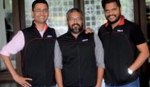L - R -Amod Malviya, Vaibhav Gupta, Sujeet Kumar - Co-founders, Udaan