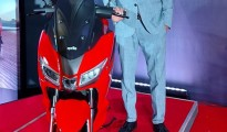Sudhanshu Agrawal, VP Sales in Piaggio Vehicles Pvt Ltd has launched new Aprilia SXR 160 in Bangalore