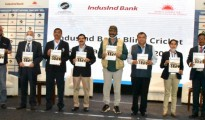 """Panel Discussion on """"Blind Women's Cricket"""" held as a part of Blind Cricket Conclave in Bengaluru:  (From left to right):   Mr.IrfanSait, Director & Head Coach, Karnataka Institute of Cricket (KIC); Ms.Pallavi Raj, Head CSR-IndusInd Bank; Ms.Ankita, Captain-Delhi Blind Cricket Women's Team; Ms.Shikha Shetty, Coach/Mentor/Manager-Karnataka Blind Cricket Women's Team; and Mr.SatishVishwanathan, GM, Indian Cricketer's Association (ICA), who moderated the session."""