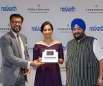 Mr. Sachin Jain, MD, De Beers Inda, Film star, Srinidhi Shetty and Gurmukh Singh, CEO, Neelkanth Jewelers