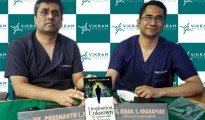 L-R : Dr. Prashanth LK, Consultant Neurologist and Parkinson's Disease & Movement Disorder Specialist, Vikram Hospital, Bengaluru  & Dr. Kiran S Khanapure, Consultant Functional Neurosurgeon, Vikram Hospital